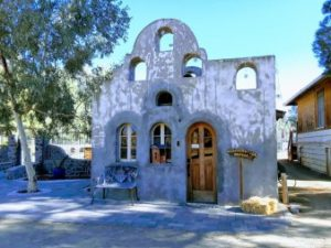Historical building serves as the Mercey Hot Springs resort office,REACH San Benito Parks to visit Panoche Hills - Mercey Office