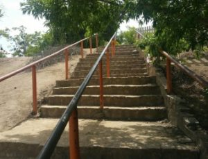 Reach San Benito Parks San Juan Bautista - mission stairs