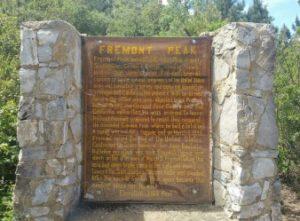 Fremont Peak historical plaque.