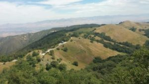 Looking down on the Fremont Peak Observatory.