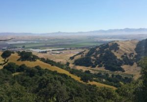 View toward the Diablo Range from the De Anza Trail.